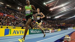 Mo Farah vs Galen Rupp at 5000m UK Indoor 2011