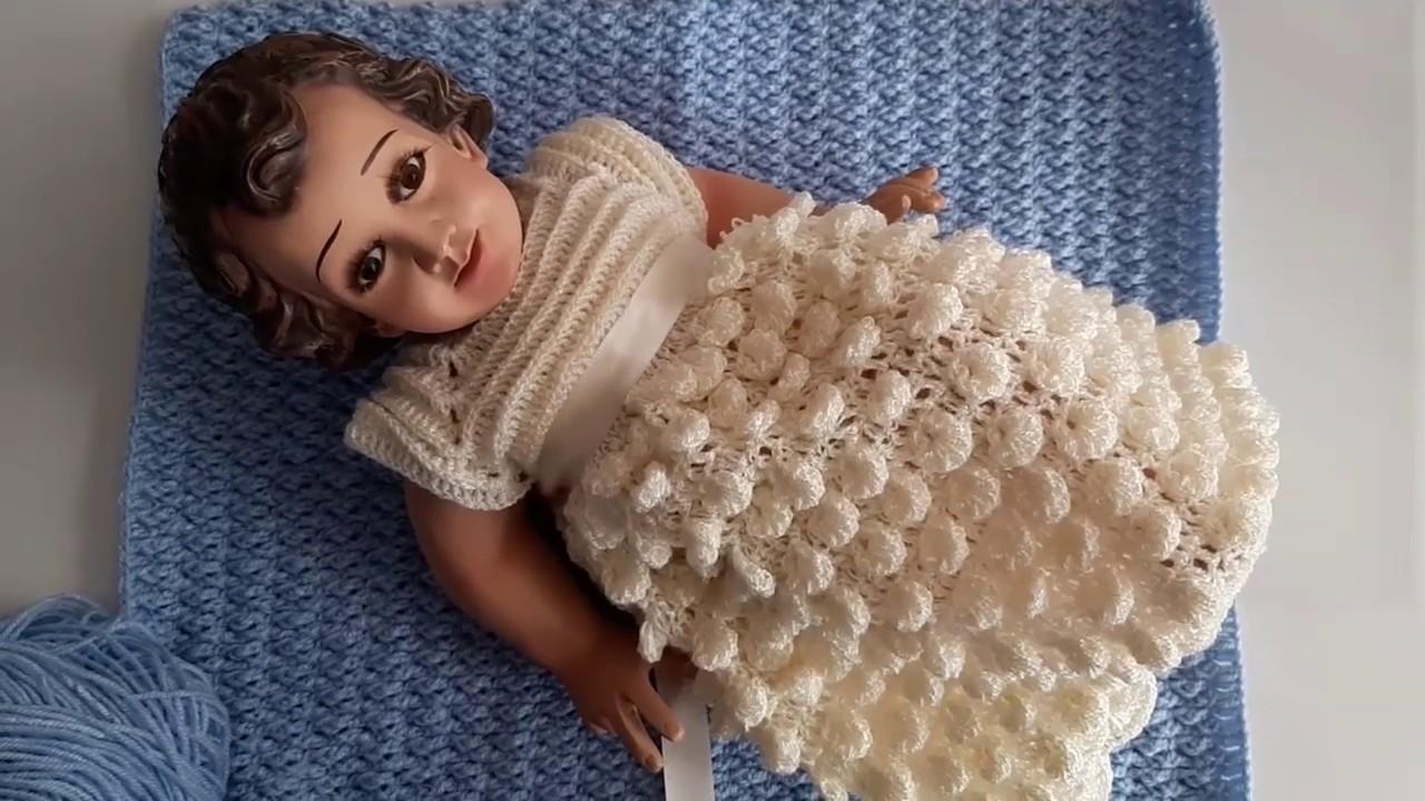 Manta A Crochet Para Bebe Conjunto De Niño Dios
