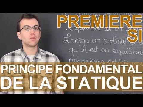 Principe fondamental de la statique (PFS) - SI - 1ère - Les Bons Profs