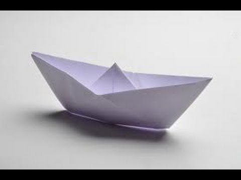 how to make a paper boat that can float hd youtube. Black Bedroom Furniture Sets. Home Design Ideas