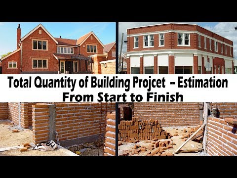 Total Quantity of Building from start to finish | How to calculate total quantity of building