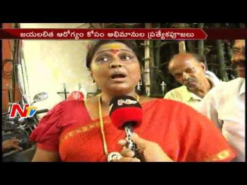 Vasuki (Assembly Rowdy Movie Fame) Special Prayers For Jayalalithaa's Health || TamilNadu || NTV