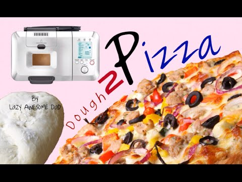 how to easy simple homemade pizza dough in breville custom loaf pro