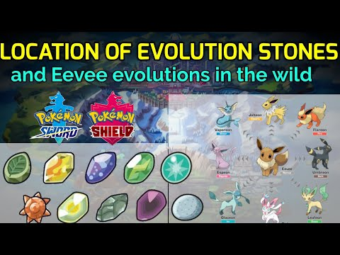 Where to find all Evolution stones and eevee evolutions in the wild