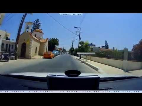 Crete via Dashcam—Herakion to Gournes (Panorama G Street Guardian SGZC12SG)