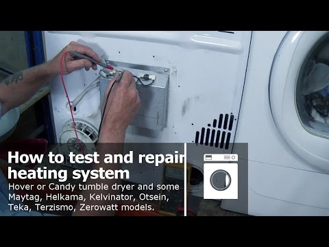 Tumble dryer not heating Hoover Candy diagnosing fault and repair