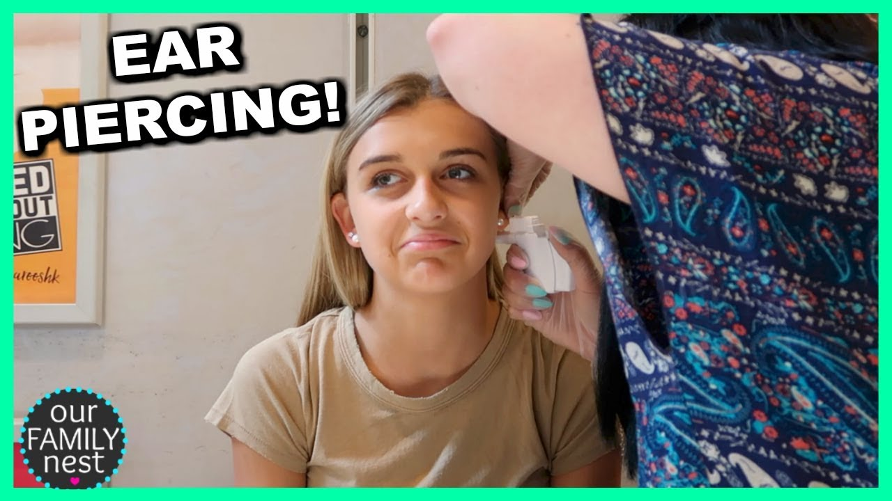 Getting My Ears Pierced Shopping At The Mall Youtube
