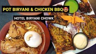 Pot Biryani???? & Chicken BBQ???? | Hotel Biriyani Chowk | Eat With Akash✨|