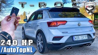 VW T ROC 240HP MTM Tuned REVIEW POV Test Drive on AUTOBAHN & ROAD by AutoTopNL Video