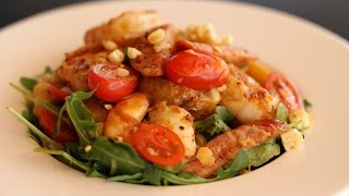 Grilled Prawns and White Corn Summer Salad Recipe!