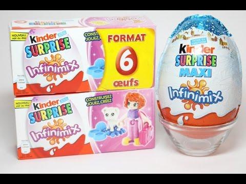 Kinder Surprise Infinimix для девочек, и Infinimix Maxi для мальчиков.