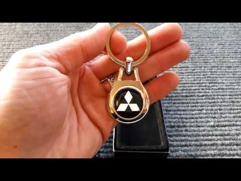 mitsubishi chrome key ring from motorlicious.co.uk