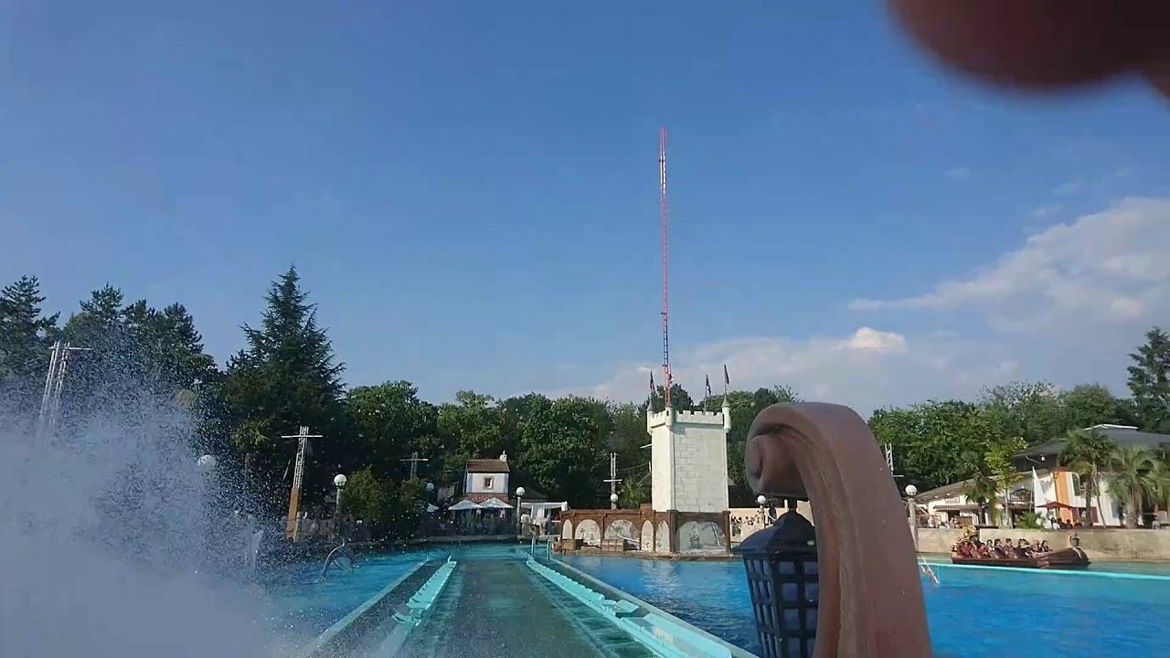 Горки в бассейне Rheinwelle Badewelt - YouTube