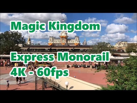 Magic Kingdom Express Monorail | 4K 60fps | Round Trip | Walt Disney World
