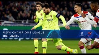 UEFA Champions League | Lyon vs Barcelona | Highlights