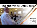 Red Oak Bokken and White Oak Bokken Review