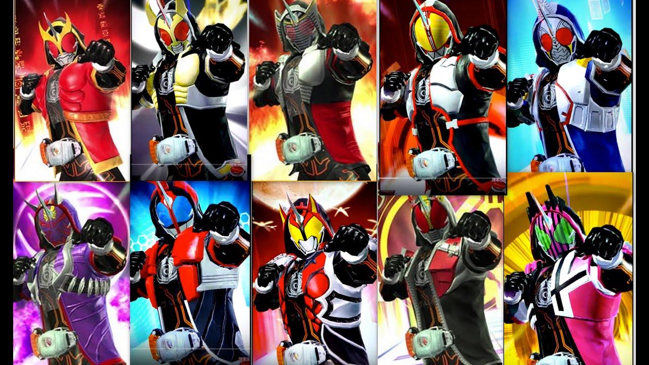 Kamen Rider Ghost All Heisei Form. Ganbarizing - YouTube