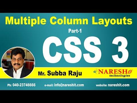 CSS3 Multiple Column Layouts Part-1 | CSS3 Tutorial | Mr. Subba Raju