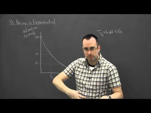 IB Physics SL revision - Nuclear 3 - decay is exponential