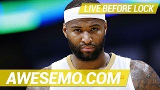Yahoo, FanDuel & DraftKings NBA DFS Live Before Lock - Fri 1/18 - Awesemo.com