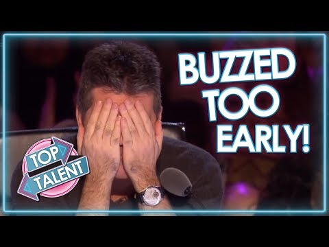 Judges BUZZ TOO EARLY On Britains Got Talent! | Top Talent