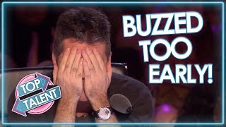 Judges BUZZ TOO EARLY On Britain&#39s Got Talent! Top Talent