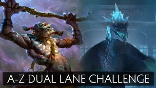 dota 2 a z dual lane challenge winter wyvern and witch doctor