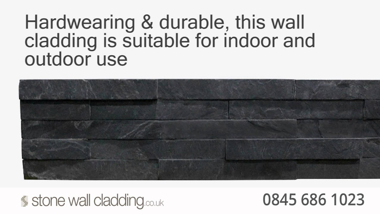 Black Slate Stone Wall Cladding Natural Stone Split Face