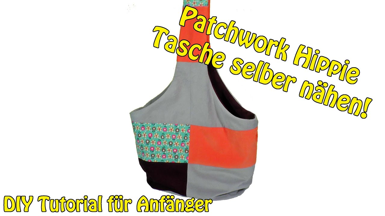 patchwork hippie tasche selber n hen diy n hen f r anf nger tutorial youtube. Black Bedroom Furniture Sets. Home Design Ideas