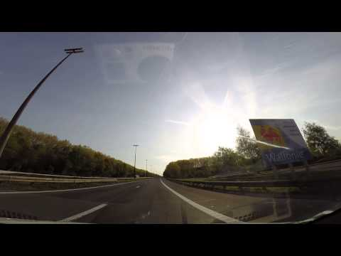 Drining In Europe - Crossing the border between France and Belgium