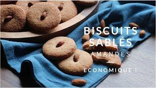 Biscuits sablés aux amandes , délicieux !