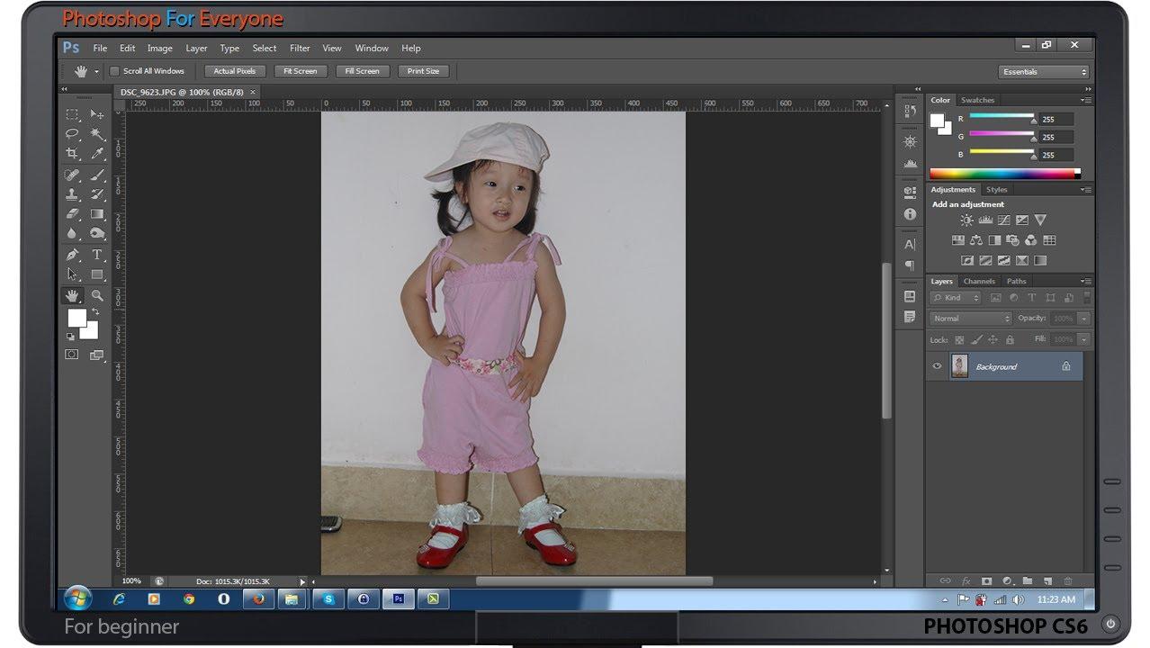 Photoshop CS6:Công cụ Move-Zoom và Hand – cơ bản bài 03
