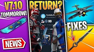 Fortnite News | Alpine Ace Return, v7.10 Date, Christmas Patch, Driftboard, Changes & More!