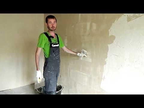 видео: Бюджетный ремонт. Штукатурка стен без маяков. #1