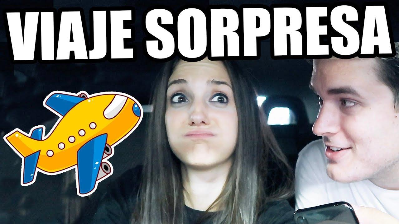 LE REGALO UN VIAJE SORPRESA A MI NOVIA VIOLETA!!! - YouTube