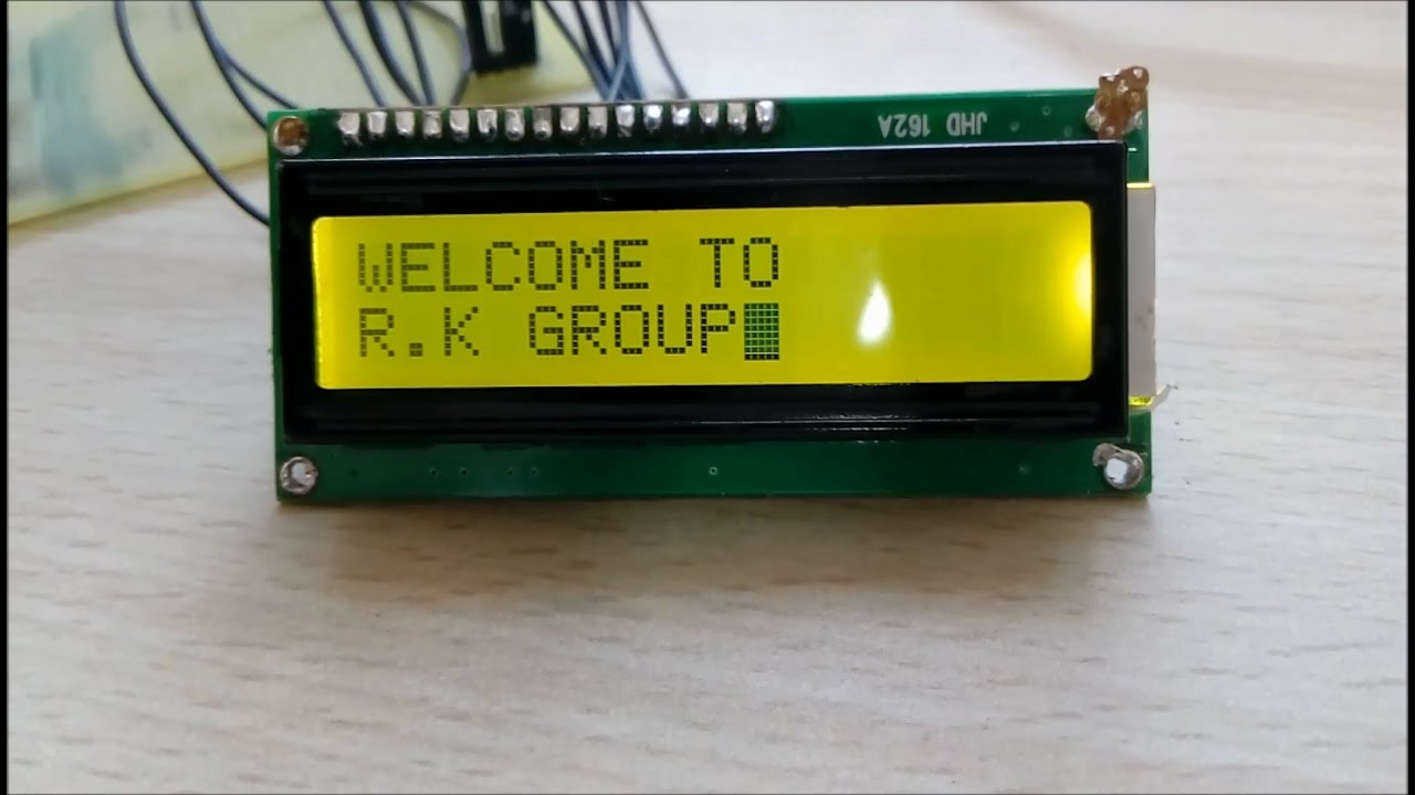 Interfacing Lcd With 8051 Microcontroller Youtube Of That You Need To Have In Order Perform An