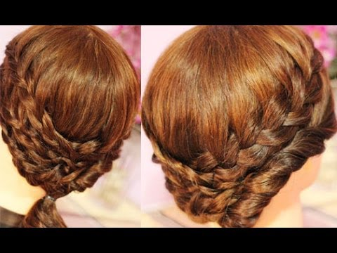 Summer Lace Braids And Twist Hairstyle For Medium Length