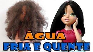 Como lavar desembaraçar alisar cabelo de boneca monster high Barbie