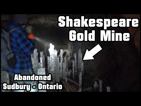 Exploring A Forgotten Gold Mine Full Of Icicles   - The Shakespeare Gold Mine Sudbury Ontario