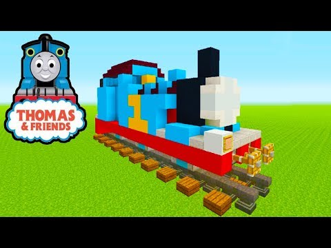 "Minecraft Tutorial: How To Make Thomas The Tank Engine ""Thomas And Friends"""