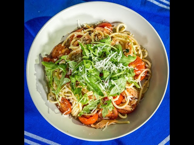Smoked Salmon and Anchovy Spaghetti