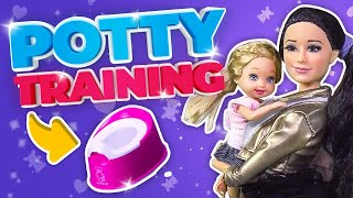 Barbie - Potty Training with the Twins