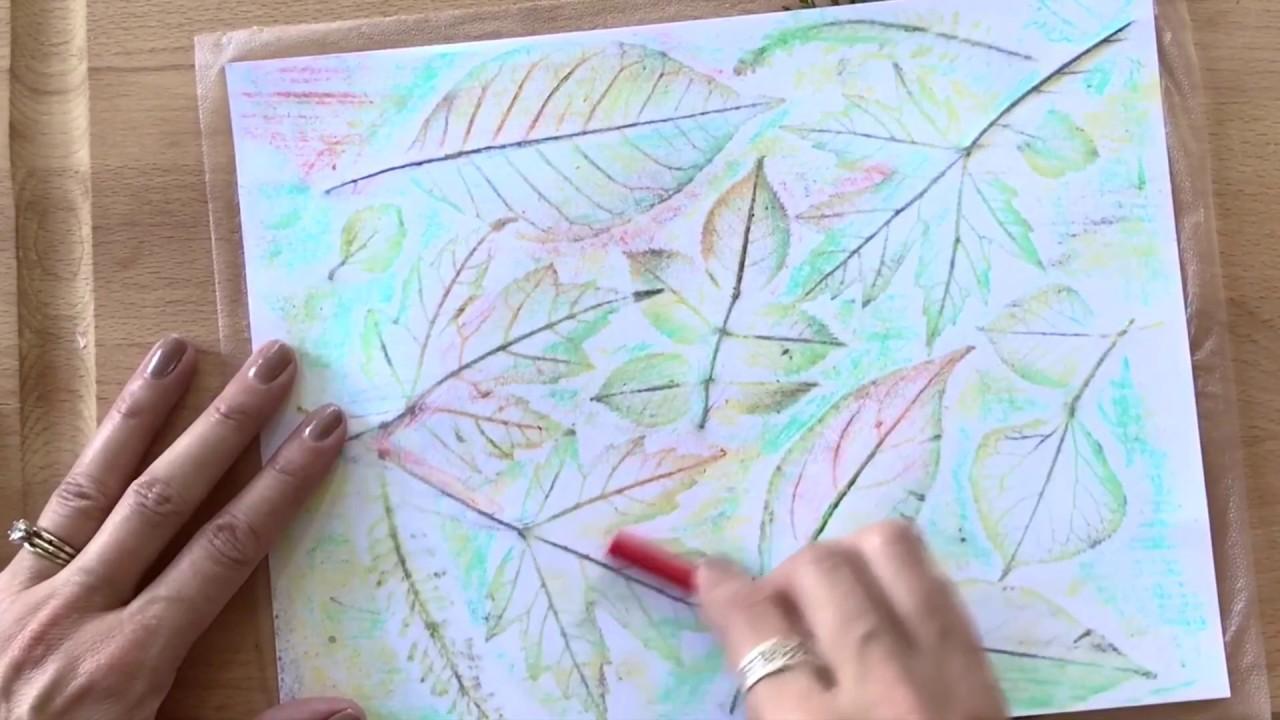 How To Make Leaf Rubbing Art