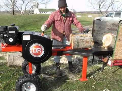 Log Splitter For Sale >> DR RapidFire Splitter at work - YouTube