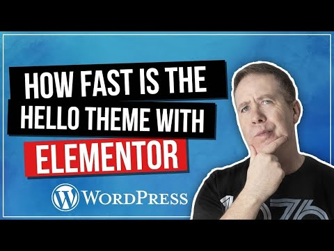 WordPress Hello Theme – How Fast Is It Really????