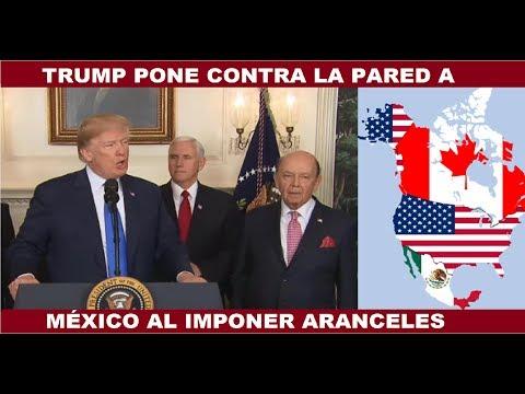 TRUMP PONE CONTRA LA PARED A MÉXICO AL IMPONER ARANCELES AL ACERO