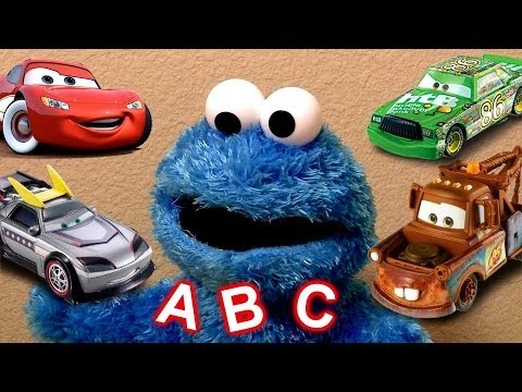 Learn ABC Alphabet With Cookie Monster Eats Cars Play Doh Cookie Monster's Letter Lunch Baby Toys