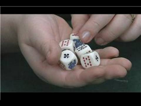Dice Games : Playing Cards With Rolling Dice