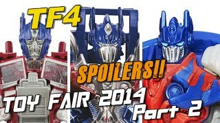 Toy Fair 2014 Pt. 2 - New Toys reveal story SPOILERS - [TF4 News #93]