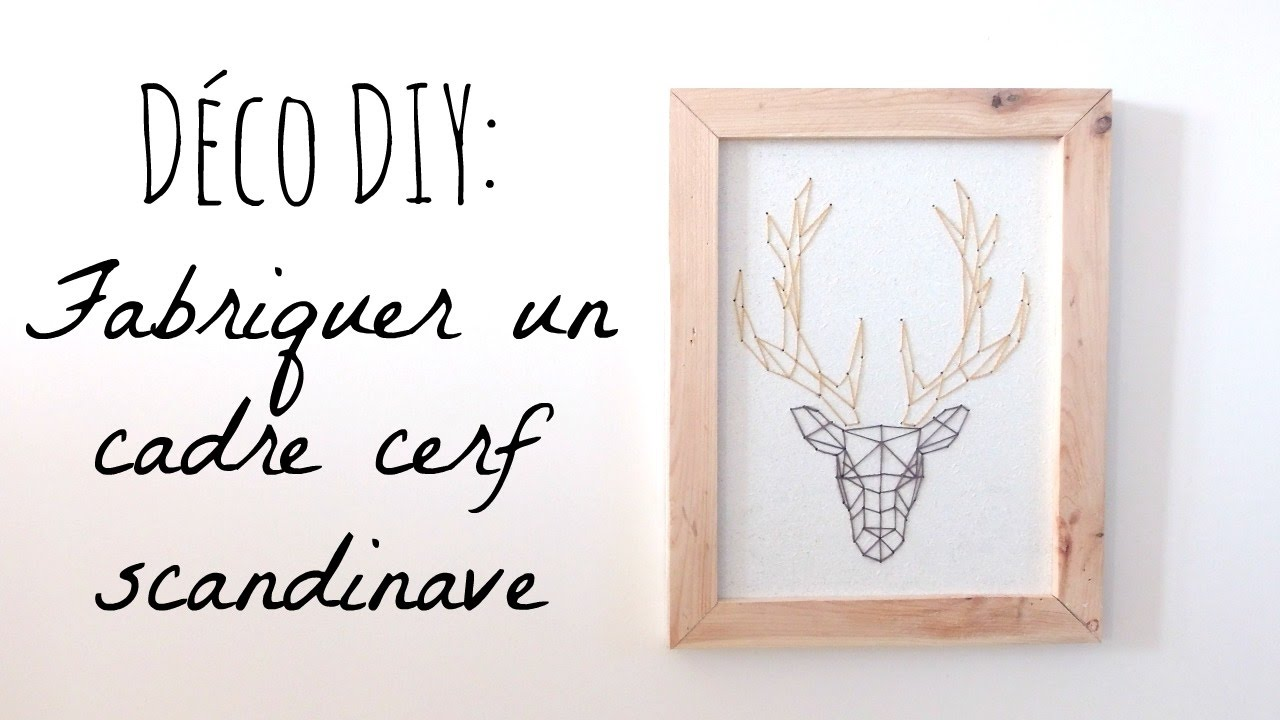DIY Déco: Deer Design Frame